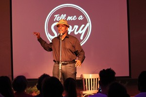 Pr Eddie Hypolite at Tell Me A Story in 2015.