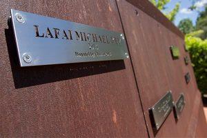 Alumni Memorial Prayer Garden plaque