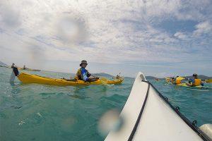 Avondale College of Higher Education students kayak across Whitsundays