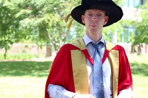 Dr Peter Williams in academic regalia