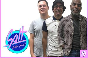 Salt Creative Podcast host Lachlan Harders with guests Ray Moaga and Eddie Hypolite