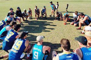 Avondale Eagles men's touch team at UniSport Nationals Div 1
