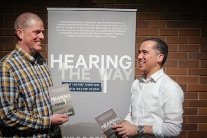 Nathan Brown and Kayle de Waal at the launch of Hearing the Way