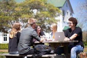 Students on Lake Macquarie campus of Avondale University College