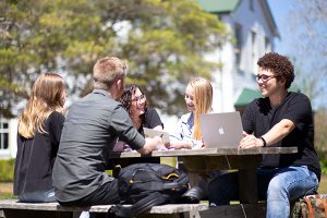 Students on Avondale's Lake Macquarie campus